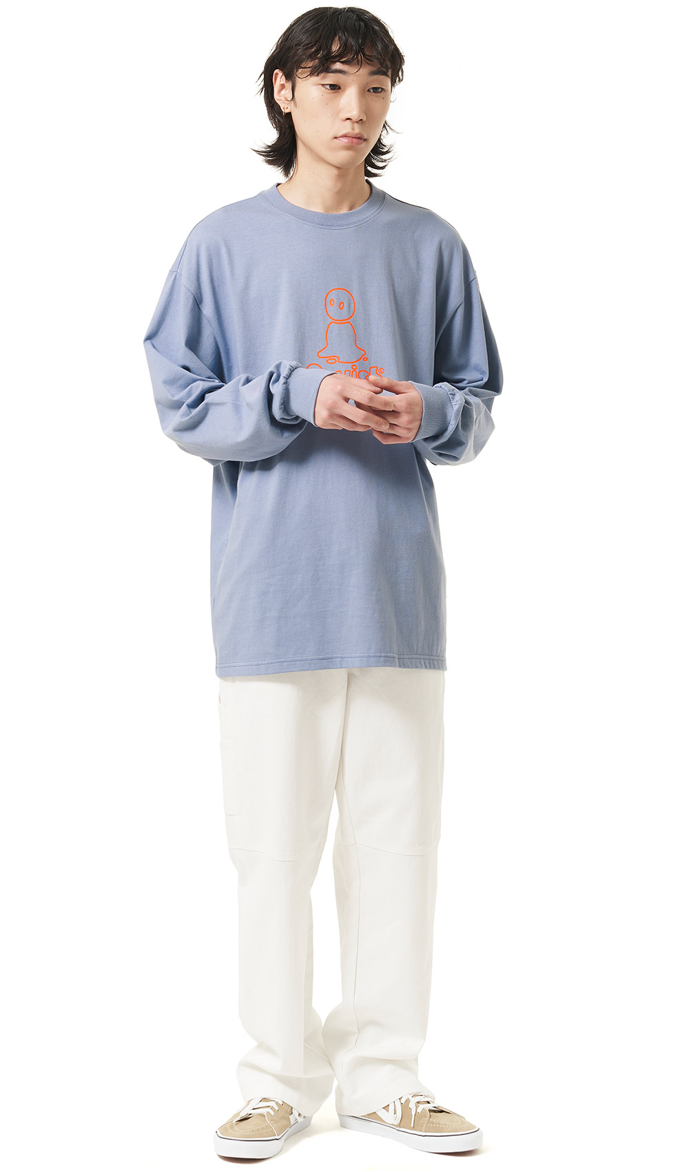 MELT OUTLINE LOGO LS TEE[BLUE]