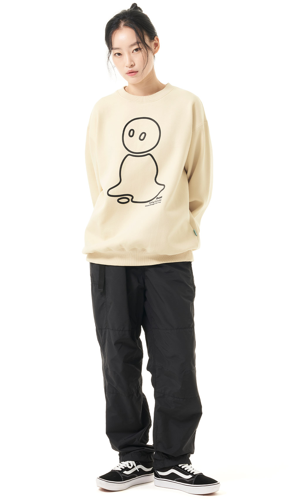 MELT OUTLINE LOGO SWEATSHIRT[BEIGE]