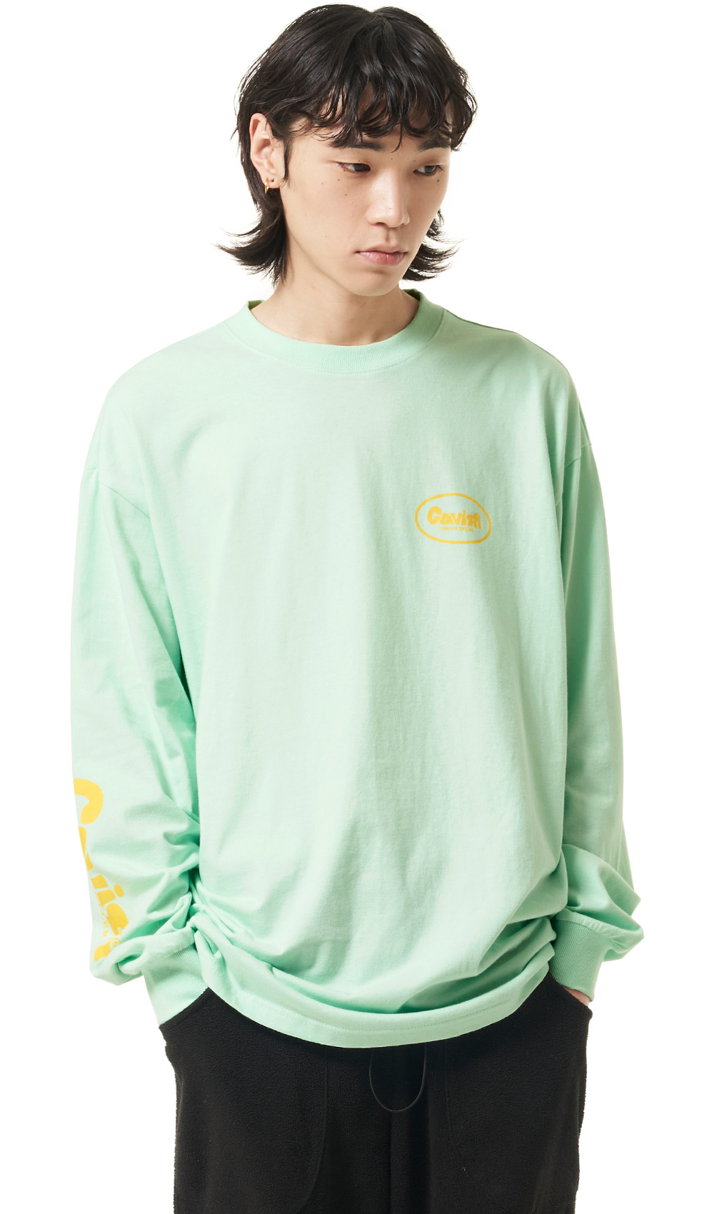 OVAL LOGO LS TEE[GREEN]