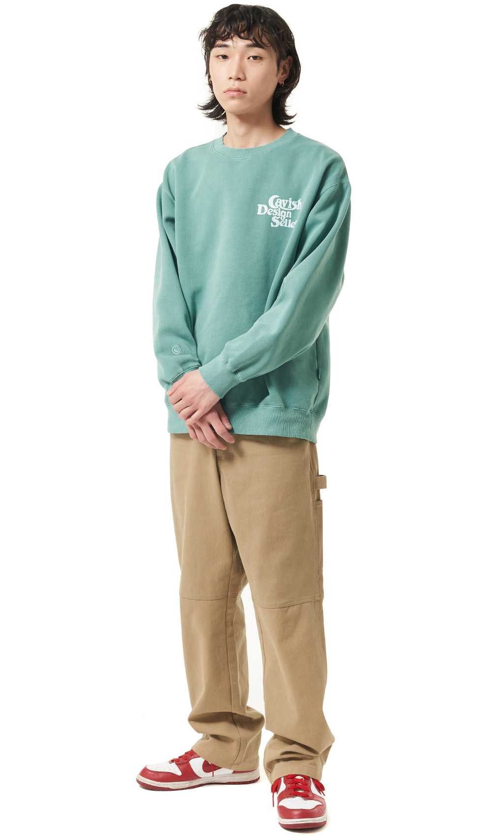 SELLER LOGO SWEATSHIRT[GREEN]