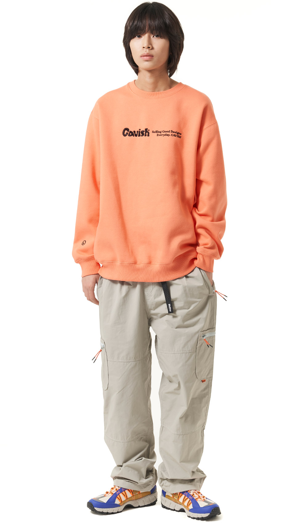 SCRIPT LOGO SWEATSHIRT[ORANGE]