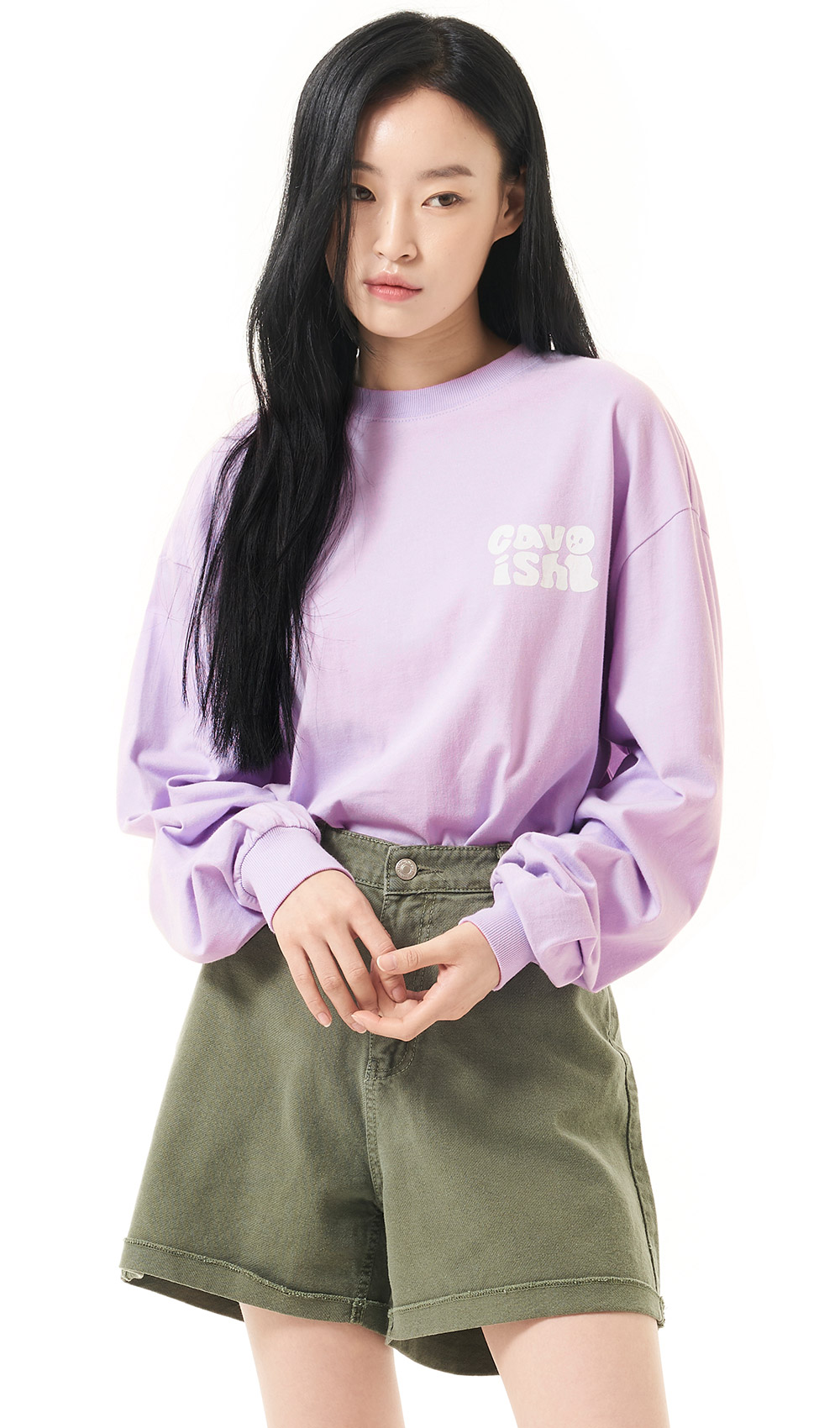 COMBI SQUARE LS TEE[PURPLE]