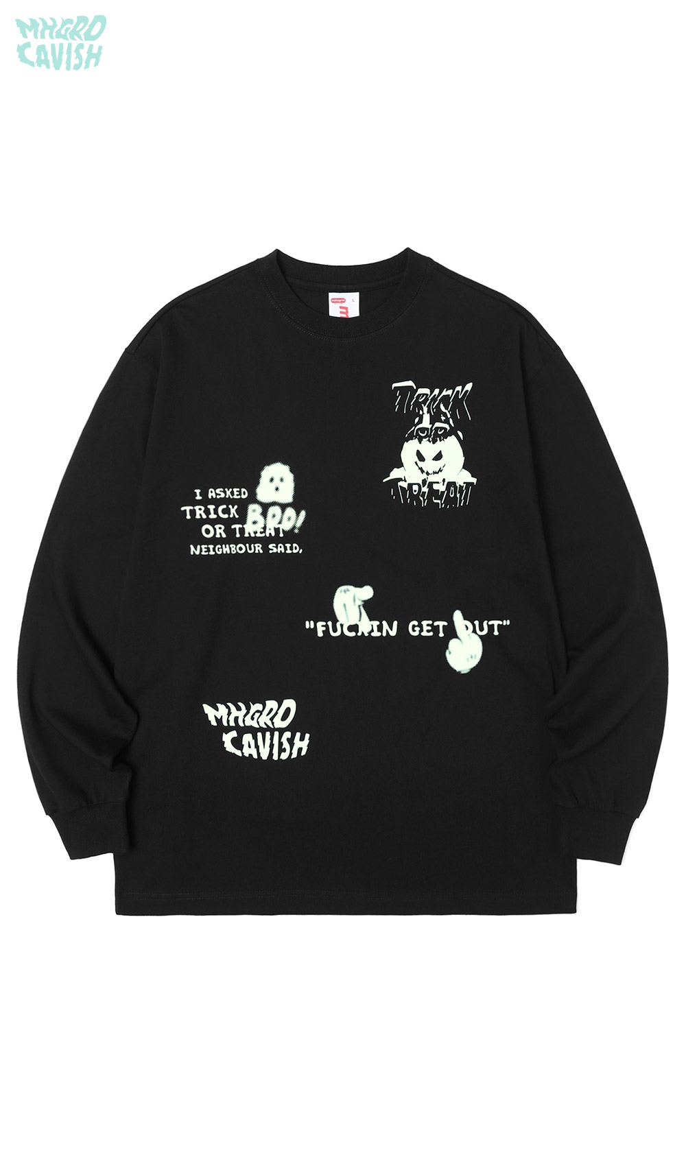 NEIGHBOUR LS TEE[BLACK]