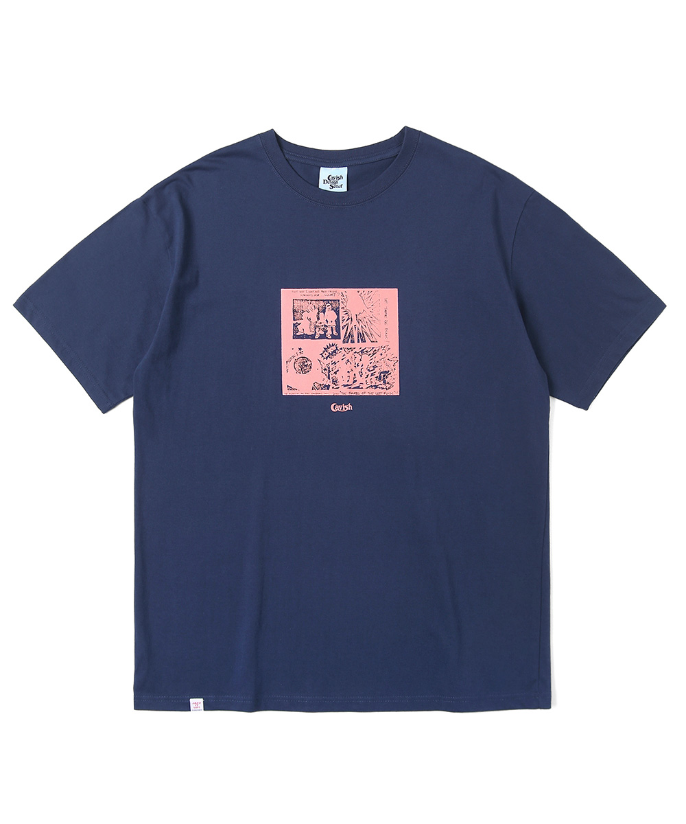 FUNK CARTOON SS TEE[NAVY]