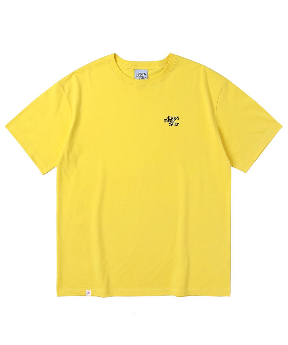 SELLER EMB LOGO SS TEE[YELLOW]