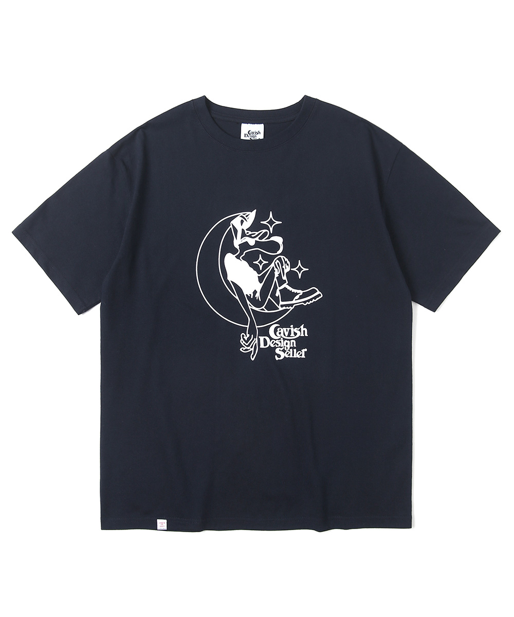 MOONAGE SS TEE[NAVY]