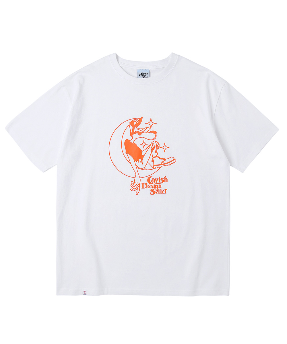 MOONAGE SS TEE[WHITE]