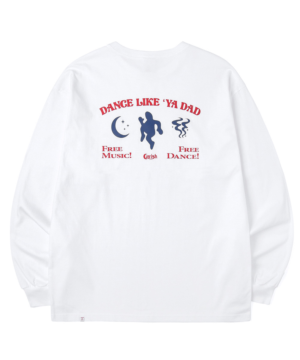 DANCING DADDY LS TEE[WHITE]