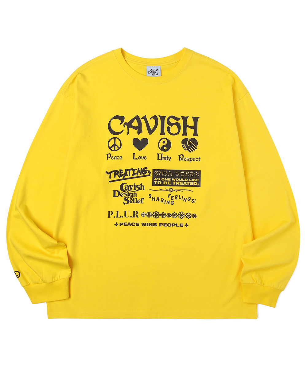 PLUR LS TEE[YELLOW]