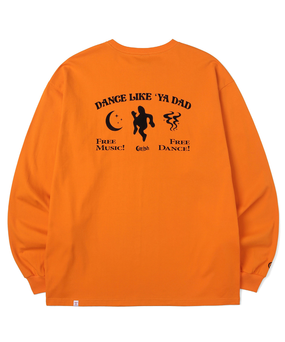 DANCING DADDY LS TEE[ORANGE]