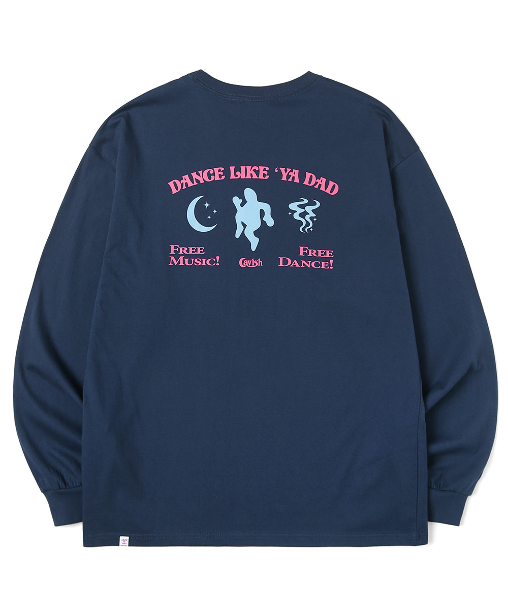 DANCING DADDY LS TEE[NAVY]