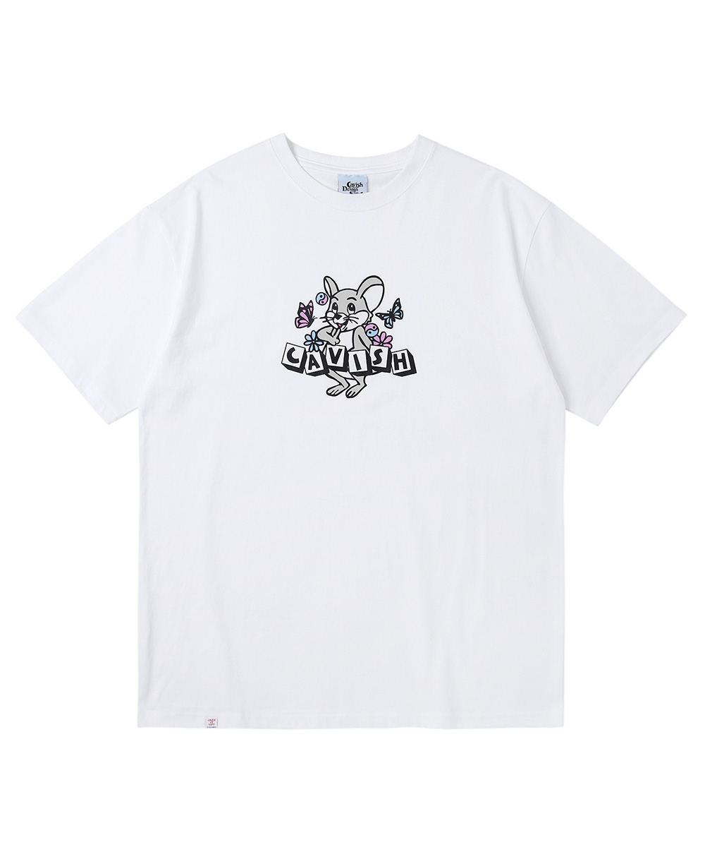 DICE RAT SS TEE[WHITE]
